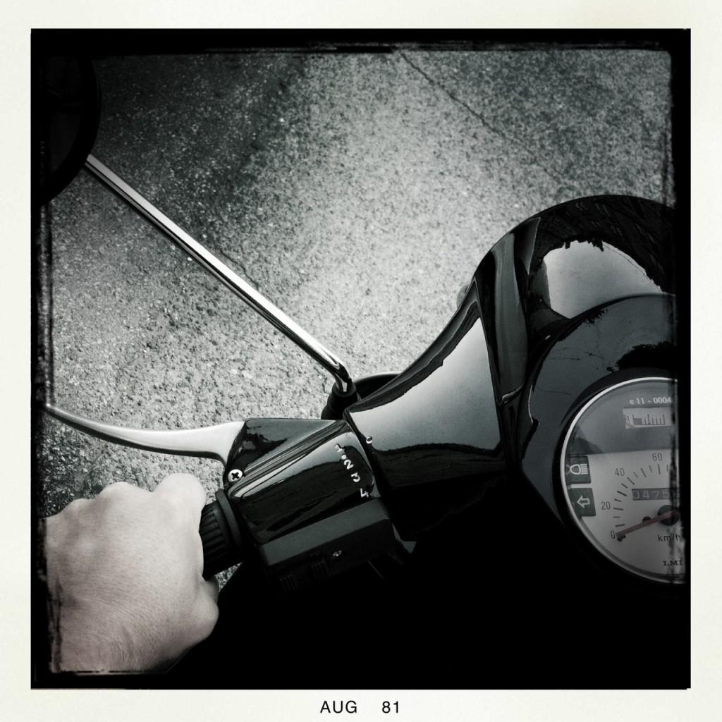 Das treue, schwarze 125er Rollerchen