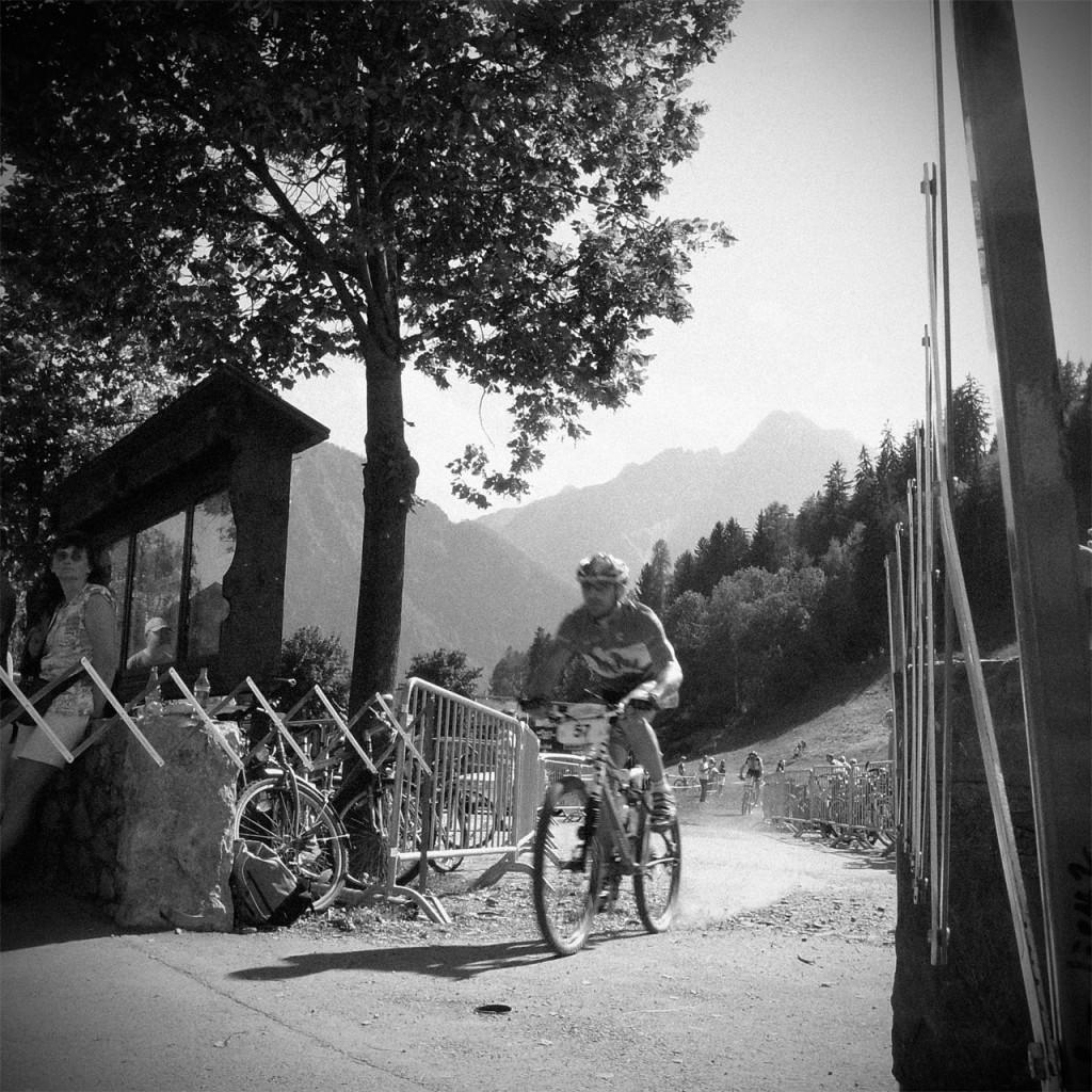 Mountainbiker beim Dolomitenmann