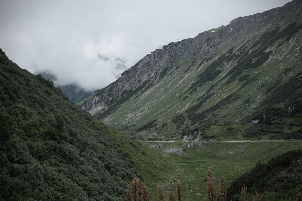 Fahrt über den Arlberg