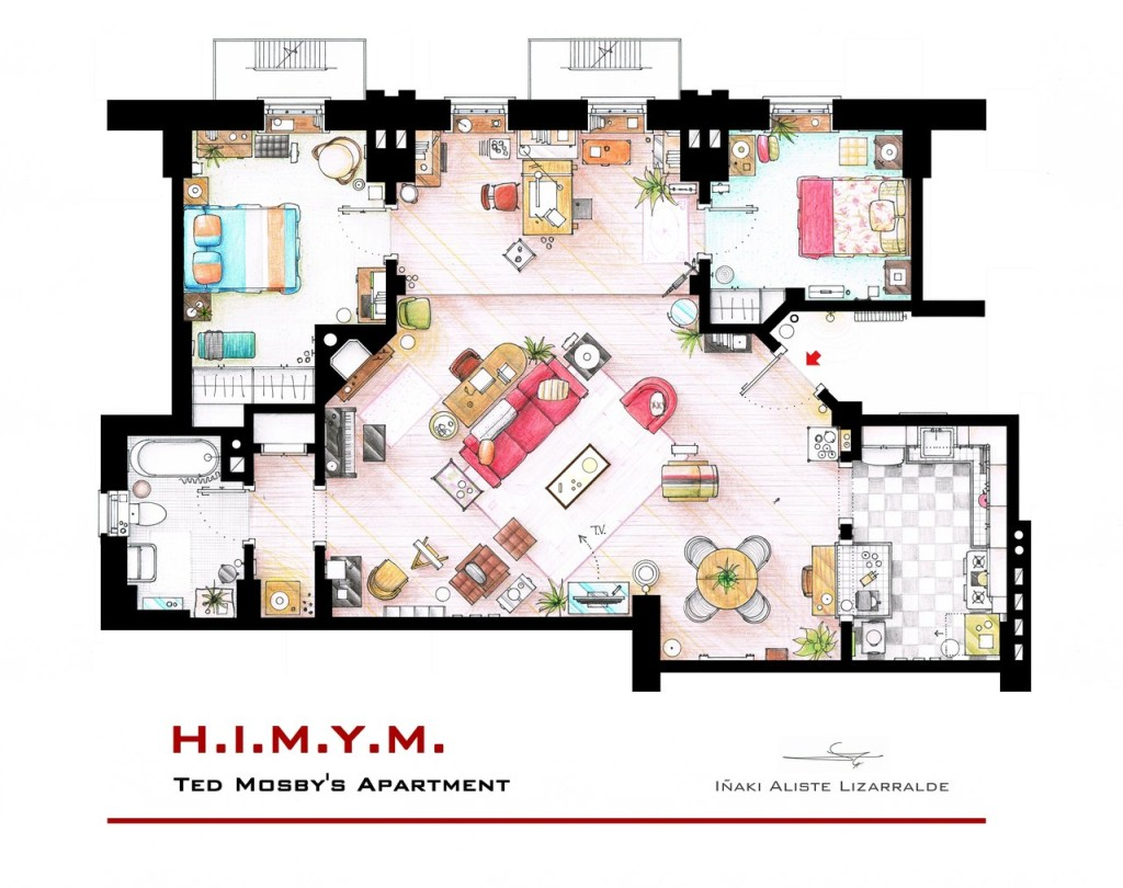 "Das Apartment von Ted Mosby aus ""How I met your mother"""