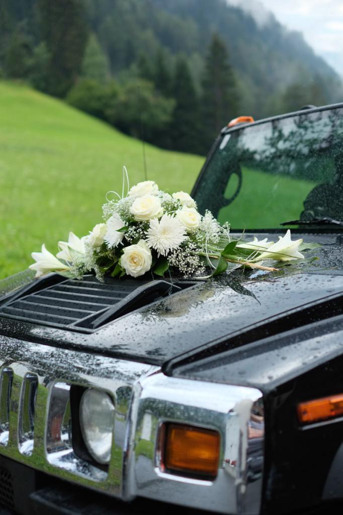 Der kleine Wagen des Brautpaares
