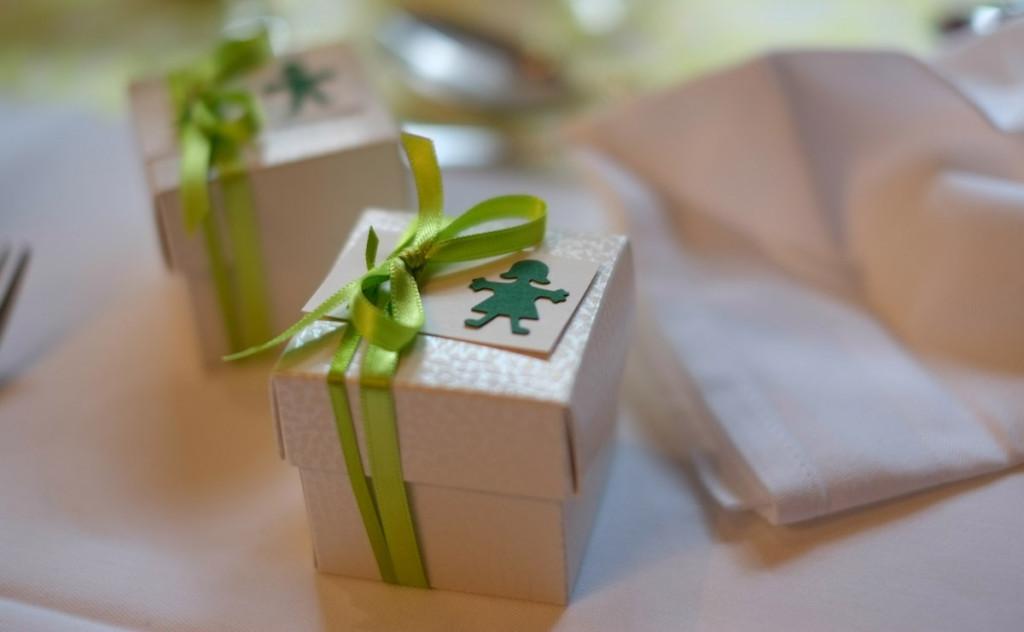 Kleine Geschenkpäckchen für die Gäste