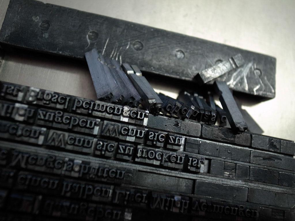 Stress: Gift für den Buchdruck