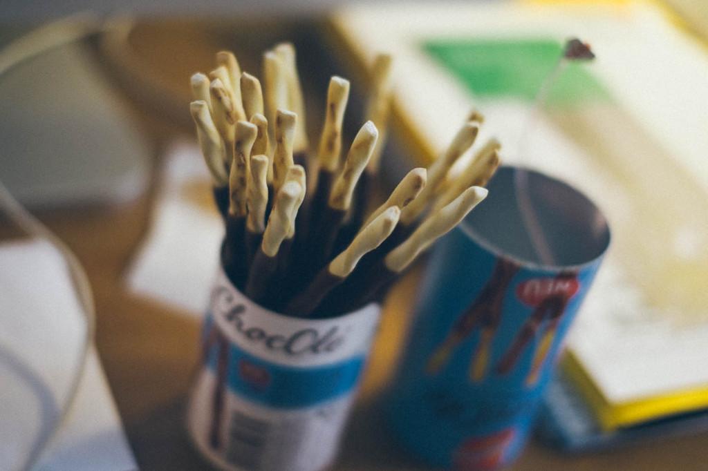 Gegen den gröbsten Hunger: Snack im Büro.