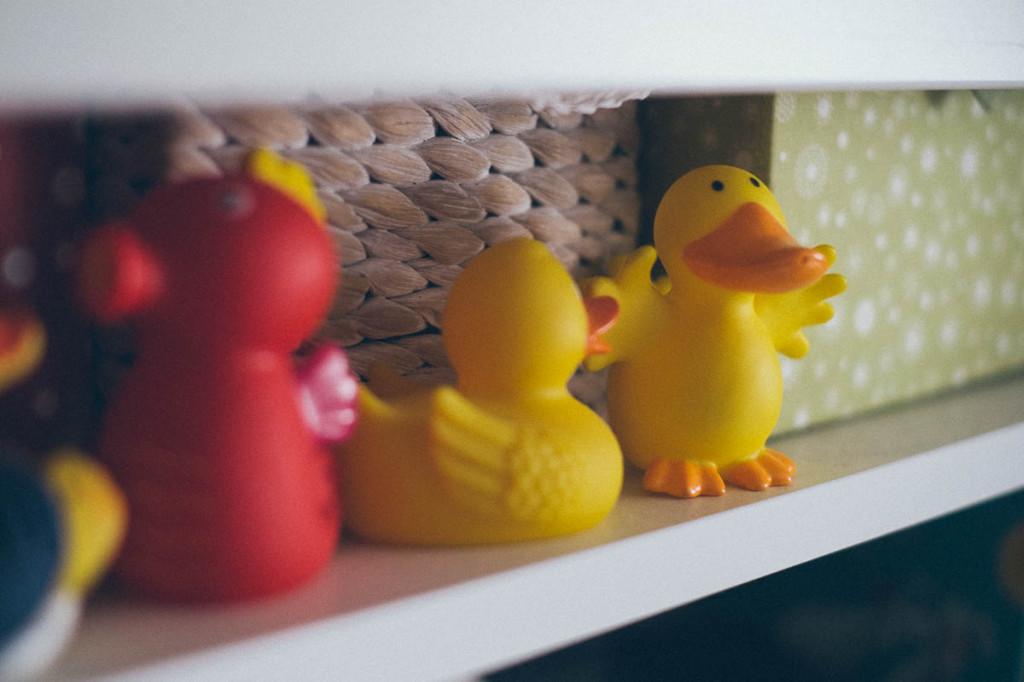 Entenparade über dem Wickeltisch