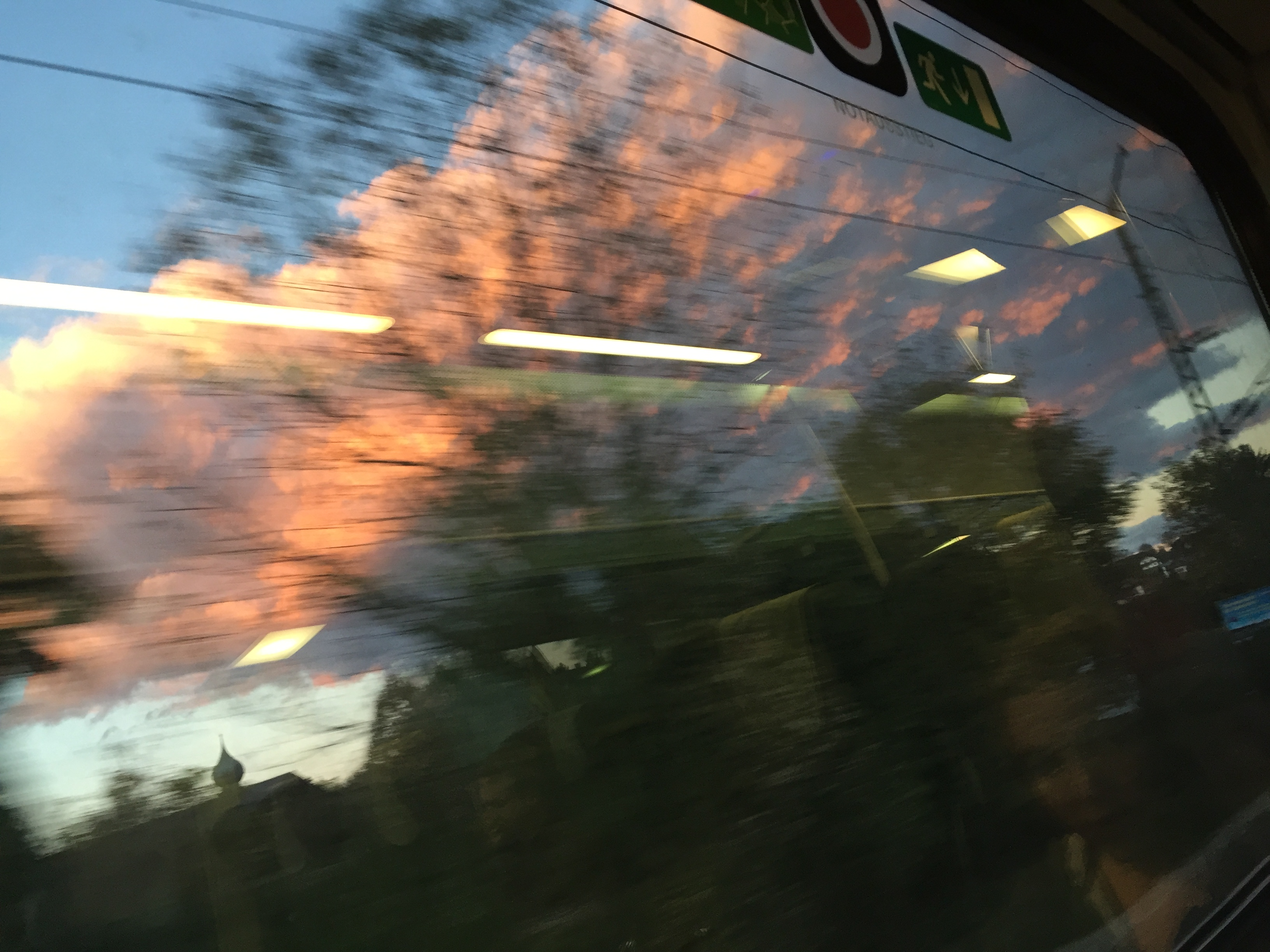 Zugsonnenuntergang